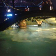 Flooded submarine set