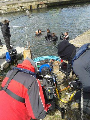 Filming in docks