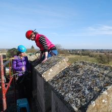 Abseil training for actors - Structures