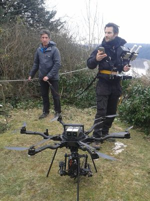 Restraining for drone operator