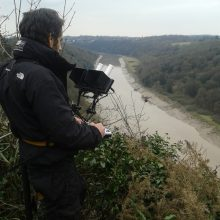 Safely flying drone over The Wye Valley