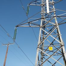 Real electricity pylon - filming location